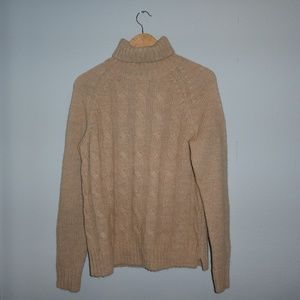 MEN'S SIZE SMALL CABLE KNIT TURTLENECK SWEATER